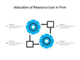 Allocation Of Resource Icon In Firm