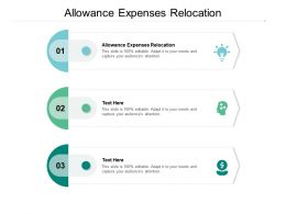 Allowance Expenses Relocation Ppt Powerpoint Presentation Gallery Sample Cpb