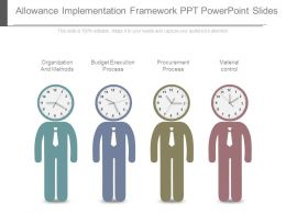 Allowance Implementation Framework Ppt Powerpoint Slides
