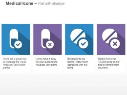 Allowed And Not Allowed Capsules And Tablets Ppt Icons Graphics