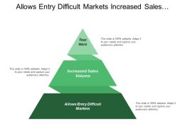 Allows Entry Difficult Markets Increased Sales Volume Delivery Mechanisms