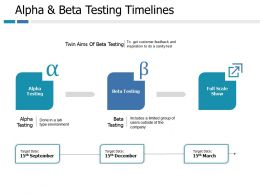 Alpha And Beta Testing Timelines Marketing Ppt Portfolio Slide Portrait