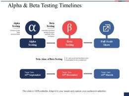 Alpha And Beta Testing Timelines Ppt Summary Structure