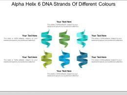 Alpha Helix 6 Dna Strands Of Different Colours