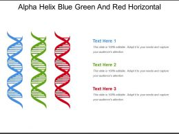 Alpha Helix Blue Green And Red Horizontal