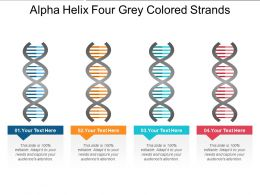 Alpha Helix Four Grey Colored Strands