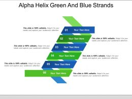 Alpha Helix Green And Blue Strands