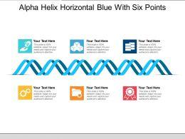 Alpha Helix Horizontal Blue With Six Points