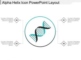 Alpha Helix Icon Powerpoint Layout