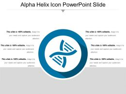 Alpha Helix Icon Powerpoint Slide