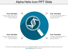 Alpha Helix Icon Ppt Slide