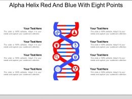 Alpha Helix Red And Blue With Eight Points