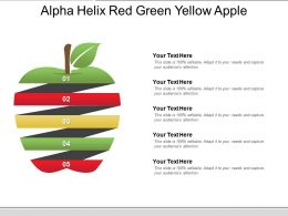 Alpha Helix Red Green Yellow Apple