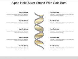 Alpha Helix Silver Strand With Gold Bars
