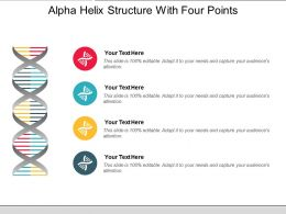 Alpha Helix Structure With Four Points
