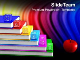 Alphabet Blocks With Books And Apple PowerPoint Templates PPT Themes And Graphics 0213