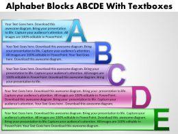 Alphabet Blocks With Textboxes