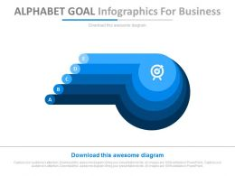 Alphabet Goal Infographics For Business Powerpoint Slides