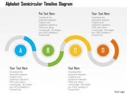 Alphabet Semicircular Timeline Diagram Flat Powerpoint Design
