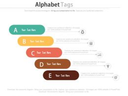 Alphabet Tags For Financial Management Analysis Powerpoint Slides