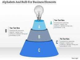 Alphabets And Bulb For Business Elements Powerpoint Template
