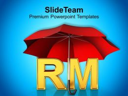 Alphabets Rm Under Red Umbrella Powerpoint Templates Ppt Themes And Graphics