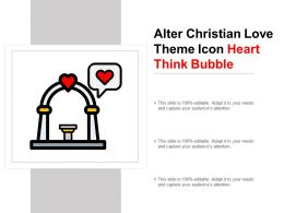 Alter Christian Love Theme Icon Heart Think Bubble