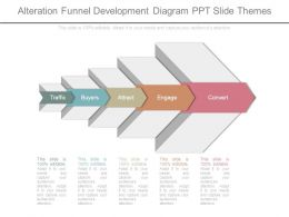 Alteration Funnel Development Diagram Ppt Slide Themes