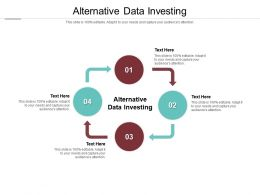 Alternative Data Investing Ppt Powerpoint Presentation Show Samples Cpb