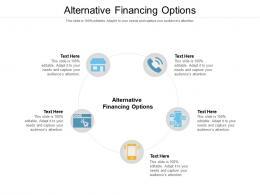 Alternative Financing Options Ppt Powerpoint Presentation Slides Vector Cpb