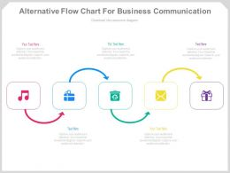 Alternative Flow Chart For Business Communication Powerpoint Slides