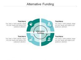 Alternative Funding Ppt Powerpoint Presentation Slides Designs Cpb
