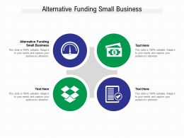 Alternative Funding Small Business Ppt Powerpoint Presentation Inspiration Ideas Cpb