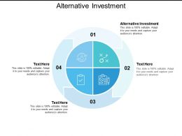 Alternative Investment Ppt Powerpoint Presentation Gallery Guide Cpb