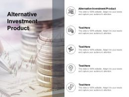 Alternative Investment Product Ppt Powerpoint Presentation Summary Slides Cpb