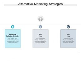 Alternative Marketing Strategies Ppt Powerpoint Presentation Picture Cpb