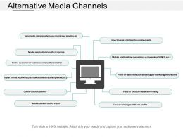 Alternative Media Channels