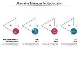 Alternative Minimum Tax Optimization Ppt Powerpoint Presentation Show Templates Cpb