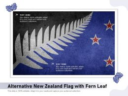 Alternative New Zealand Flag With Fern Leaf