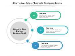 Alternative Sales Channels Business Model Ppt Powerpoint Presentation Model Elements Cpb
