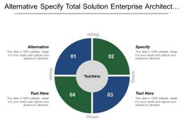 Alternative Specify Total Solution Enterprise Architect Closing Loop