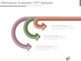 Alternatives Evaluation Ppt Samples