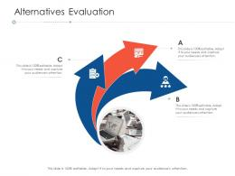 Alternatives Evaluation Project Strategy Process Scope And Schedule Ppt Gallery