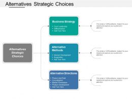 Alternatives Strategic Choices