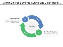 Aluminium Foil Burr Free Cutting Size Clean Room Conditions
