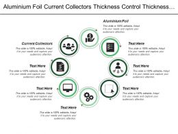 Aluminium Foil Current Collectors Thickness Control Thickness Control
