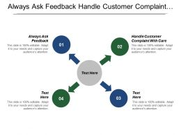 Always Ask Feedback Handle Customer Complaint With Care