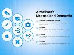 Alzheimers Disease And Dementia Ppt Powerpoint Presentation Icon Graphics Download