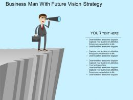 am Business Man With Future Vision Strategy Flat Powerpoint Design