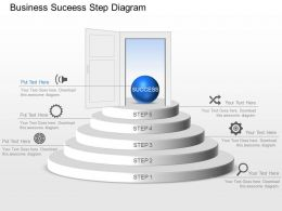 Am Business Suceess Step Diagram Powerpoint Template Slide